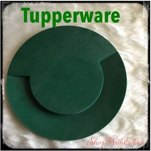 TUPPERWARE Hunter Green Cheese Cracker Charcuterie
